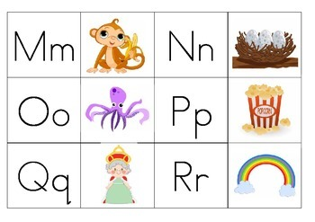 Alphabet letter/picture memory