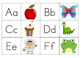 Alphabet letter/picture memory