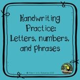 Alphabet letters and numbers trace/write -  practice or progress monitoring!