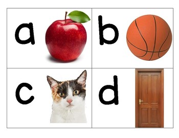 Alphabet letters and pictures Freebie