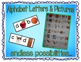 Alphabet letters and pictures