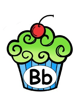 Alphabet letters {cupcake theme}