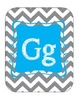 Alphabet line (Grey/White Chevron with Blue)