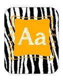 Alphabet line (zebra print with orange)