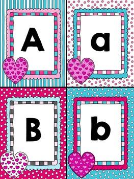 Alphabet matching-Valentine's Themed