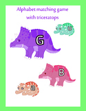 Alphabet matching dinosaur printable