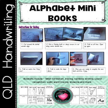 Alphabet mini book foldables. 1 letter per page.
