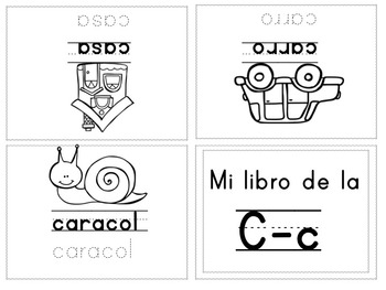 Alphabet mini-books spanish ABC | Mini-libros del alfabeto ABC Español
