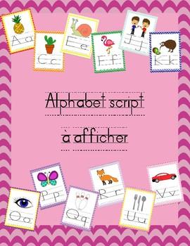 Alphabet mural script