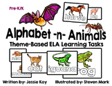 Alphabet-n-Animals Theme-Based ELA Learning Tasks Toolkit & Song (Pre-K/K)