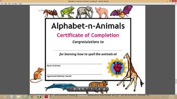 Alphabet-n-Animals Theme-Based ELA Learning Tasks Toolkit & Song (Pre-K/K)