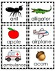 Alphabet object cards