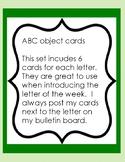 Alphabet object cards