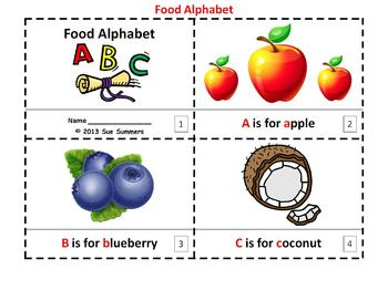 Alphabet of Food 2 Emergent Reader Booklets