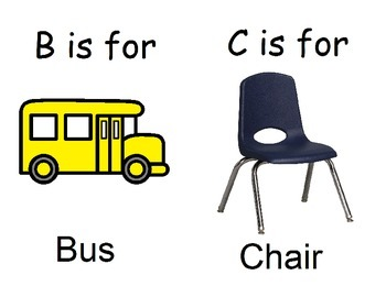 Alphabet of things we see at school