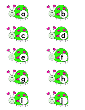 Alphabet on Insects