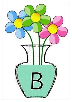 Alphabet on Vases - Separate Upper and Lower Cases