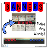 Alphabet Banner: Letters Make Any Words: Back to School Bu