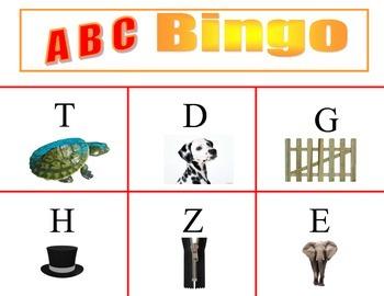 Alphabet or Phonics Bingo
