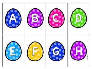 Alphabet order, recognition, fluency, and sound game
