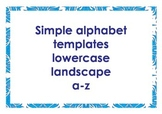 Alphabet outlines lowercase landscape