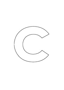 Alphabet outlines lowercase portrait