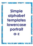 Alphabet outlines lowercase portrait