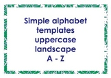 Alphabet outlines uppercase landscape