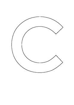 Alphabet outlines uppercase portrait