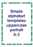 Alphabet outlines uppercase portrait
