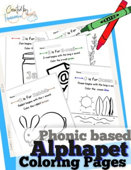 Alphabet phonics coloring worksheets