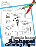 Alphabet phonics coloring worksheets