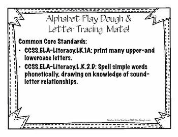 Alphabet play dough mats- Kindergarten