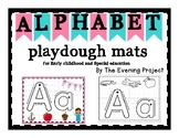Alphabet playdough mats (color&black and white) for Early childhood and Spec.Ed.