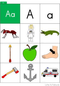 Alphabet - beginning sound - pocket chart cards