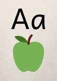 Alphabet poster A-J