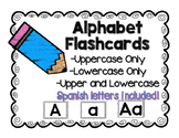 Alphabet posters/Flashcards including Spanish alphabet letters!
