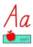 Alphabet Letters charts -  SA Modern cursive font