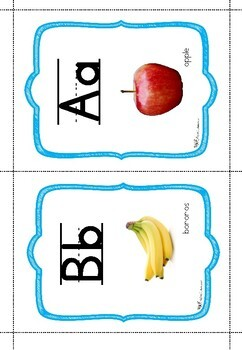 Alphabet posters and  flashcards!