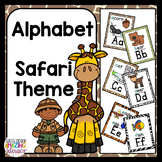 Alphabet posters and flashcards: Safari theme