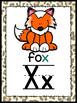 Alphabet posters and flashcards: Safari theme