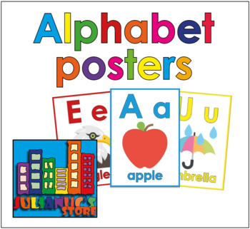 Alphabet posters for class
