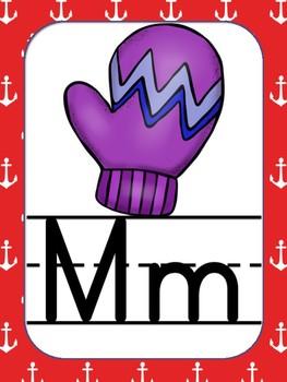 Alphabet posters nautical theme