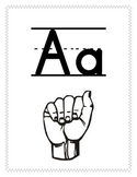 Alphabet posters with ASL signs