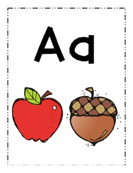 Alphabet posters with images for PreK - 1st