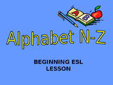 Alphabet powerpoint n-z