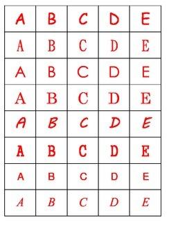 Alphabet practice sorting the letters different font ESL hands on CENTER