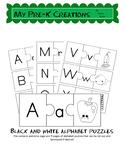 Alphabet puzzles B&W