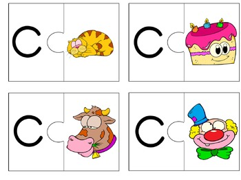 Alphabet puzzles: Beginning sounds