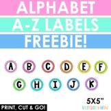 Alphabet rainbow labels - A-Z Labels